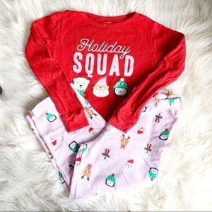 ❤️Carter's❤️Holiday Squad❤️Size 6❤️Fleece Pajamas